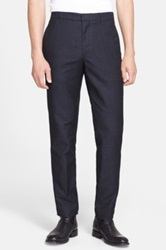 Rag And Bone Navy Slim Fit Trousers Blue