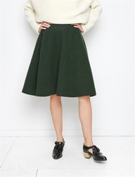 J.W. Anderson A Line Skirt Green