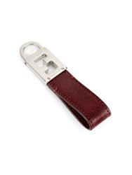 Fendi Leather Key Ring Wine