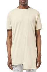 Topman Men's Asymmetrical Step Hem T Shirt