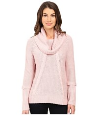 Ivanka Trump Over Sized Sweater Heather Blush Pink Women's Sweater
