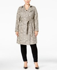Inc International Concepts Plus Snakeskin Print Trench Coat Only At Macy's Snake Print
