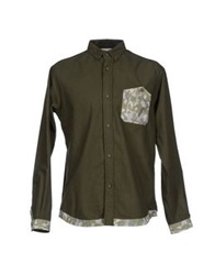 White Mountaineering Shirts Military Green