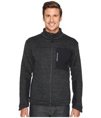 Obermeyer Gunner Bonded Knit Jacket Black Men's Coat