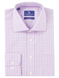 Chester By Chester Barrie Tonal Check Shirt Lilac