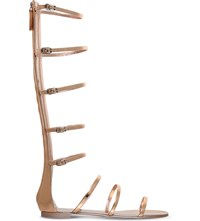 Giuseppe Zanotti Cabot Metallic Leather Gladiator Sandals Gold Comb