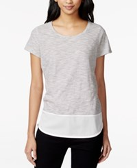 Maison Jules Layered Look T Shirt Only At Macy's Navy Stone Combo