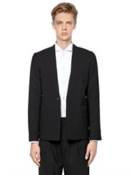 Emporio Armani Embossed Stretch Wool Jacket