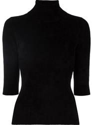 Antonio Marras Turtleneck Shortsleeved Blouse Black