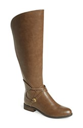 Women's Very Volatile 'Cabarnet' Riding Boot Taupe Faux Leather