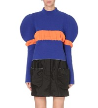J.W.Anderson Puff Sleeve Knitted Jumper Royal Blue