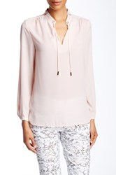 Insight Tie Neck Blouse Pink