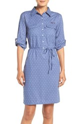 Columbia Women's 'Super Bonehead' Cotton Shirtdress Bluebell Polka Dot