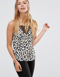 Vero Moda Animal Cami Top Antique White W. Ana Multi