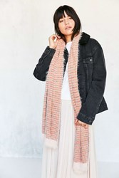 Urban Outfitters Lightweight Striped Scarf Coral