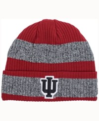 Adidas Indiana Hoosiers Player Watch Knit Hat Crimson Heather Gray