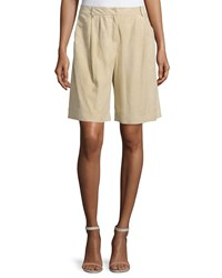 Lafayette 148 New York Clarkson Pleated Front Shorts Sahara Red Women's