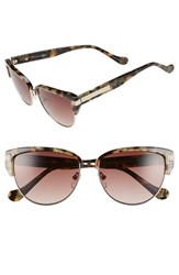Women's Ivanka Trump 56Mm Round Sunglasses