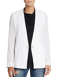 Helmut Lang Crepe Sleeve Blazer Optic White