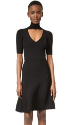 Cushnie Et Ochs Short Sleeve Knit Dress Black