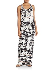 Young Fabulous And Broke Hamptons Tie Dye Maxi Dress Black White