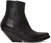 Vetements Black Cowboy Boots