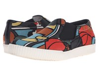 Marni Printed Canvas Slip On Sneaker Psychedelic Print Men's Shoes Multi
