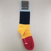 Roullier White Striped Socks Red Tail