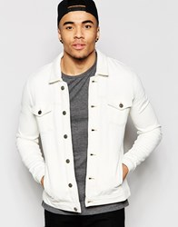 Asos Jersey Western Jacket In Off White Off White