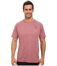 Asics Mesh Short Sleeve Crew Pomegranate Men's Clothing Pink