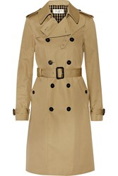Saint Laurent Gabardine Trench Coat Beige