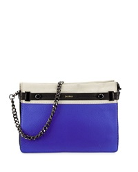 Botkier Leroy Leather Clutch Bag Cobalt