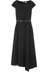 Loewe Embellished Crepe Midi Dress Black