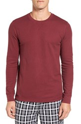 Nordstrom Men's Big And Tall Men's Shop Waffle Knit Long Sleeve T Shirt Red