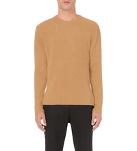 Wooyoungmi Zip Detail Knitted Jumper Camel