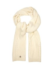 Moncler Cable Knit Scarf Cream