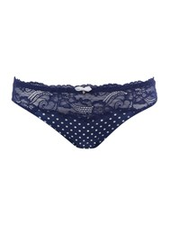 Marie Meili Curves Clarice Lace Spot Brief Blue