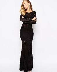Supertrash Drease Maxi Dress With Cut Out Detail Black