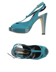 Gaspard Yurkievich Sandals Turquoise