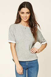 Forever 21 Distressed Athletic Top