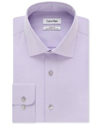 Calvin Klein Steel Men's Big And Tall Classic Fit Non Iron Herringbone Dress Shirt Lilac