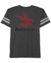 Jem Men's Budweiser Graphic Print T Shirt Charcoal Heather