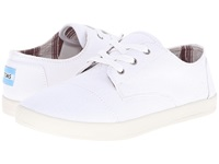 Toms Paseo White Canvas Women's Lace Up Casual Shoes