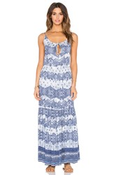 Somedays Lovin Open Eyes Tiered Maxi Dress Blue