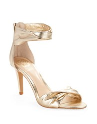 Vince Camuto Camden Twisted Leather Sandals Gold