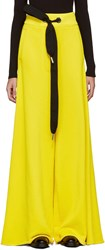 Marques Almeida Yellow Wide Leg Lounge Pants
