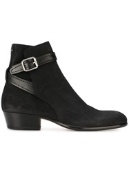 Maison Martin Margiela Buckled Ankle Boots Black