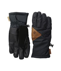 Columbia St. Anthony Gloves Black Crossdye Black Melange Ski Gloves