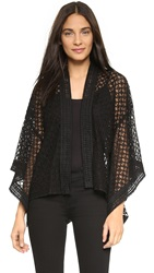 Anna Sui Aries Combo Lace Cardigan Black Multi
