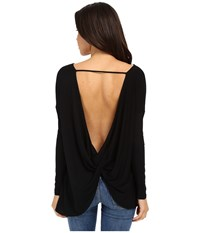 Culture Phit Brinley Long Sleeve Top With Open Back Black Women's Clothing